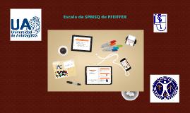 Copy of Escala de SPMSQ de PFEIFFER