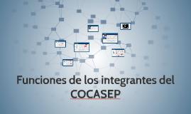 Funciones de los integrantes del COCASEP