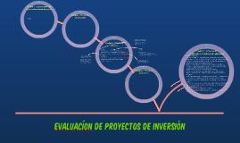 Evaluacíon de Proyectos de Inversión