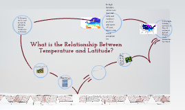 Copy of What is the relationship between temperature and latitude?
