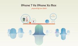 iPhone 7 Vs iPhone Xax