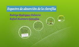 Copy of Espectro de absorción de la clorofila