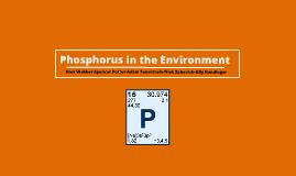 Phosphorus in the Environment