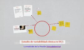 Estudio de variabilidad clínica en UCI: