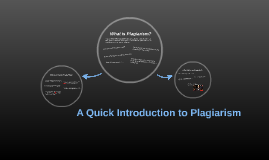 A Quick Introduction to Plagiarism