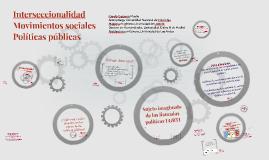 Políticas públicas, sexualidad género e interseccionalidad