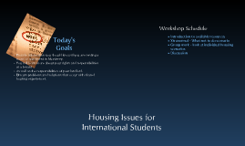 Housing Issues for International Students
