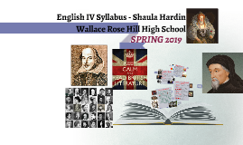 English IV Syllabus - Shaula Hardin