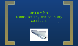 AP Calculus Beams, Bending, and Boundary Conditions