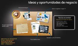 Ideas y oportunidadesde negocio