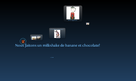 Milkshake de banane et chocolate