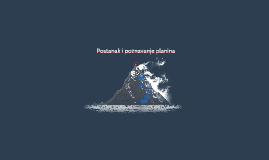 Postanak i poznavanje planina
