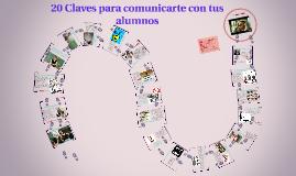"""""""20 Claves para comunicarte con tus alumnos"""""""