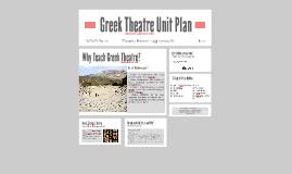 Greek Theatre Unit Plan