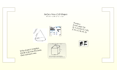 Copy of Surface Area of 3D shapes