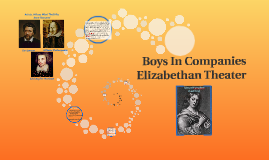 Boys' Companies In Elizabethan Theatre