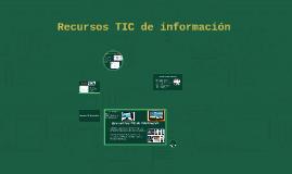 Recursos TIC de informacion