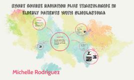 short course radiation plus temozolomide in elderly patients