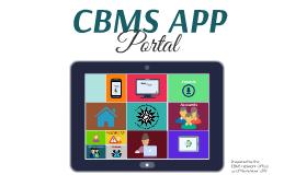 CBMS APP PORTAL_2019