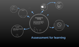 Copy of Assessment for learning