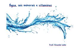 Água, sais minerais e vitaminas