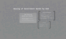 Buying of Government Bonds by ECB