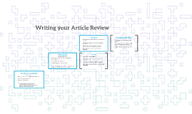 Writing your Article Review