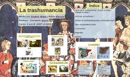La trashumancia