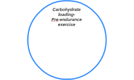 Carbohydrate loading-