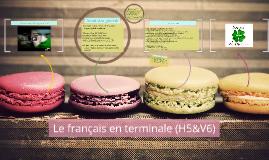 Le français en terminale (H5&V6)