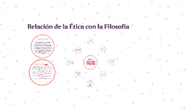 Copy of Relación de la Ética con la Filosofía