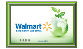 Sustainability Practices At Walmart Logistics