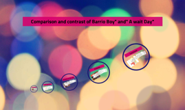 "Copy of Comparison and contrast of Barrio Boy"" and"" A wait Day"""