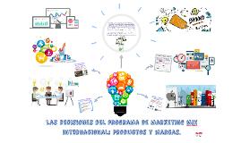 Marketing mix internacional productos y marcas