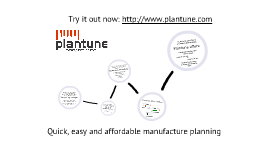 Plantune - Quick, easy and affordable manufacture planning