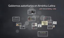 Gobiernos autoritarios en América Latina