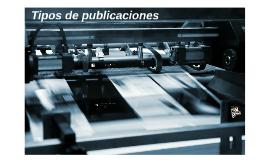 Tipos de publicaciones