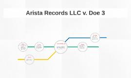 Arista Records LLC v. Doe 3