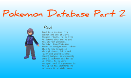 Pokemon Database UNFINISHED