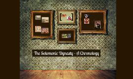 Solomonic Empire - A Chronology