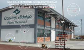 USO DE HERRAMIENTA GOOGLE SITES COMO PROPUESTA DE APOYO PARA