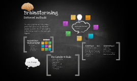Intervention Technique: Brainstorming (Change Management)