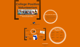 College Positive Volunteerism