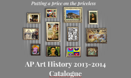 AP Art History 2013-2014 Catalogue