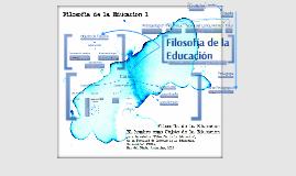 Filosofía de la Educación 1
