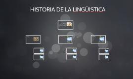 HISTORIA DE LA LINGÜISTICA