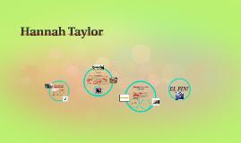 Hola, Me llamo Hannah Taylor