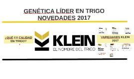 KLEIN - Novedades 2017