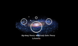 a comparison of the big bang theory and steady state theory The big bang theory says the universe started at a moment a certain time ago ( about 138 billion years it appears), the steady state says the universe has  always.