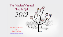 The Annual Walters' Top 12 List - 2012